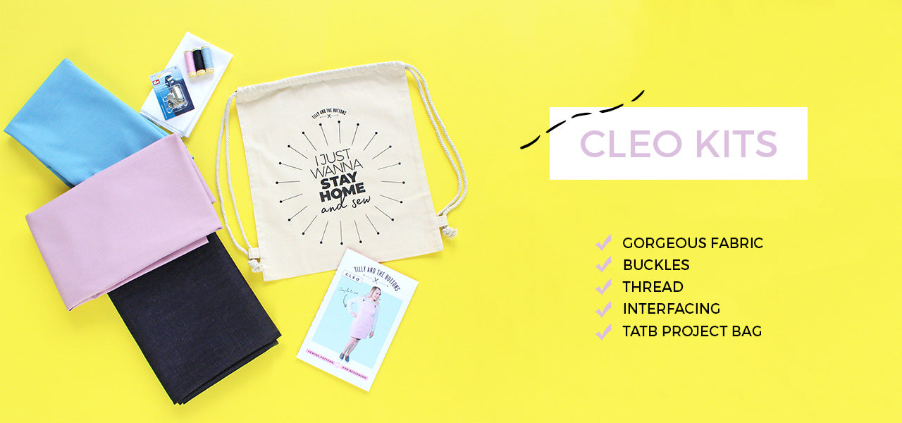 Shop our gorgeous Cleo kits containing everything you need to make this popular dress