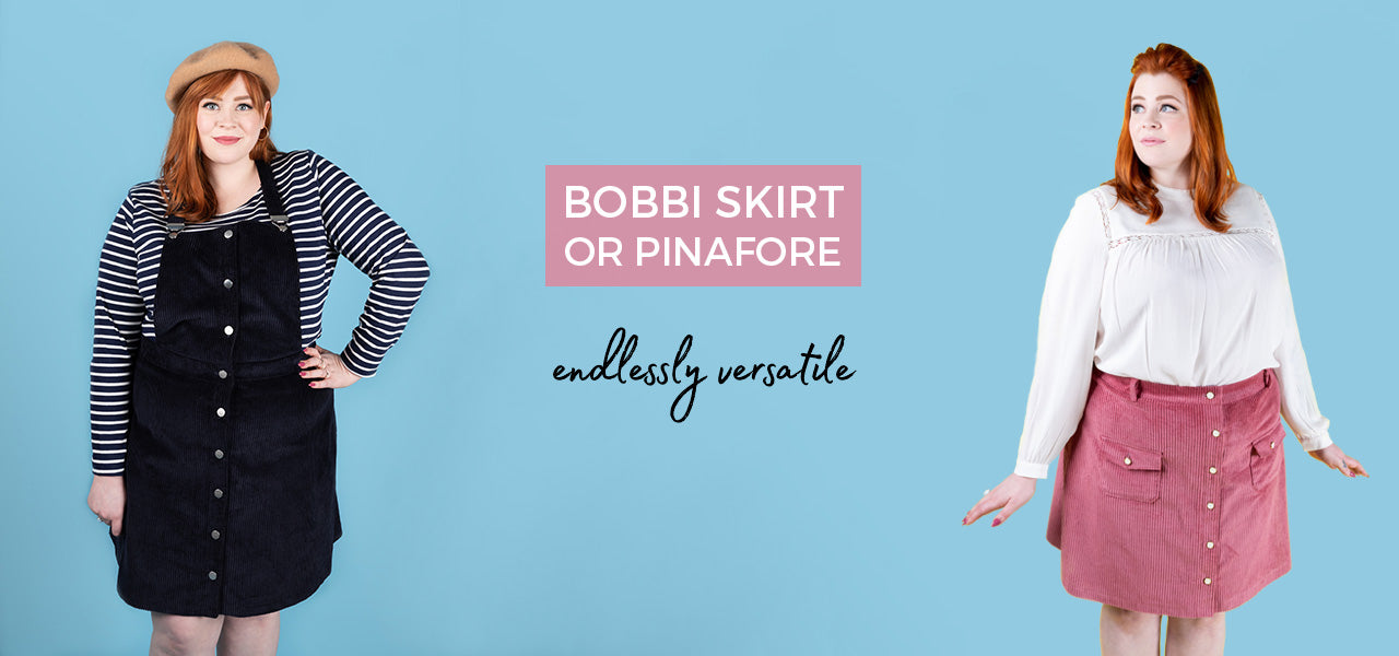 The Bobbi skirt or pinafore is an endlessly versatile pattern that you will make again and again!