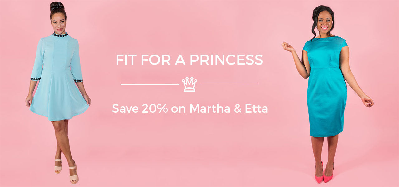 Fit for a princess! - sewing patterns Martha and Etta by Tilly and the Buttons