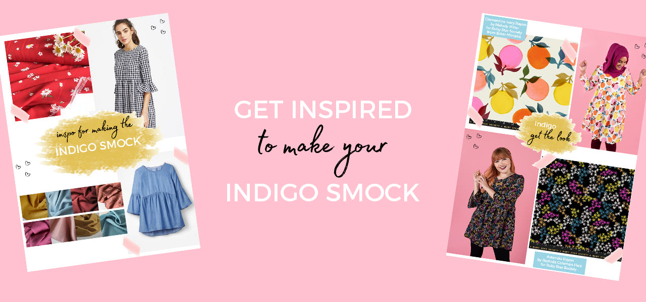 Get some inspiration and fabric suggestions for making your Indigo smock top or dress