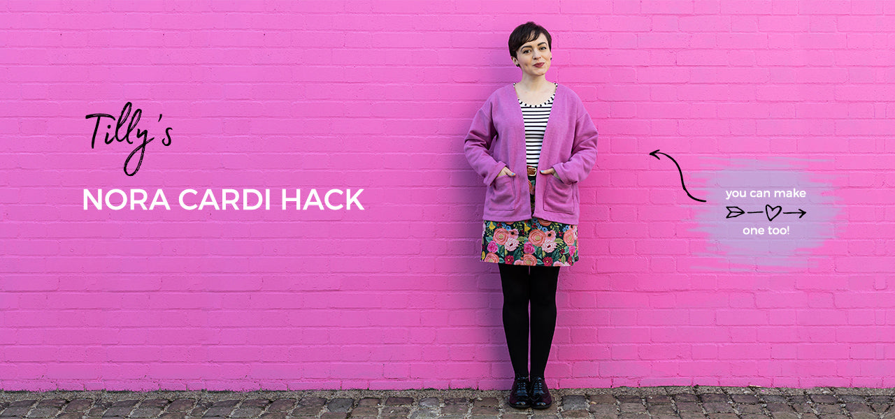 Follow Tilly's pattern hack guide to create your own cosy Nora cardigan!