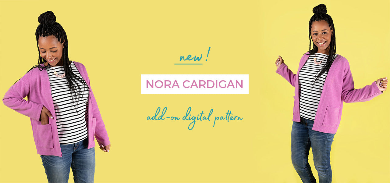 Turn our favourite pattern - Nora into a cardigan with this add-on digital pack