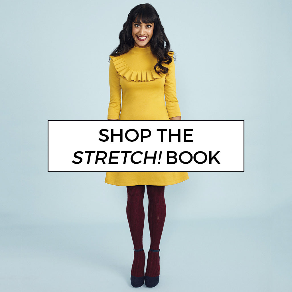 Shop Tilly's bestselling book Stretch! and learn how to sew with knit fabrics
