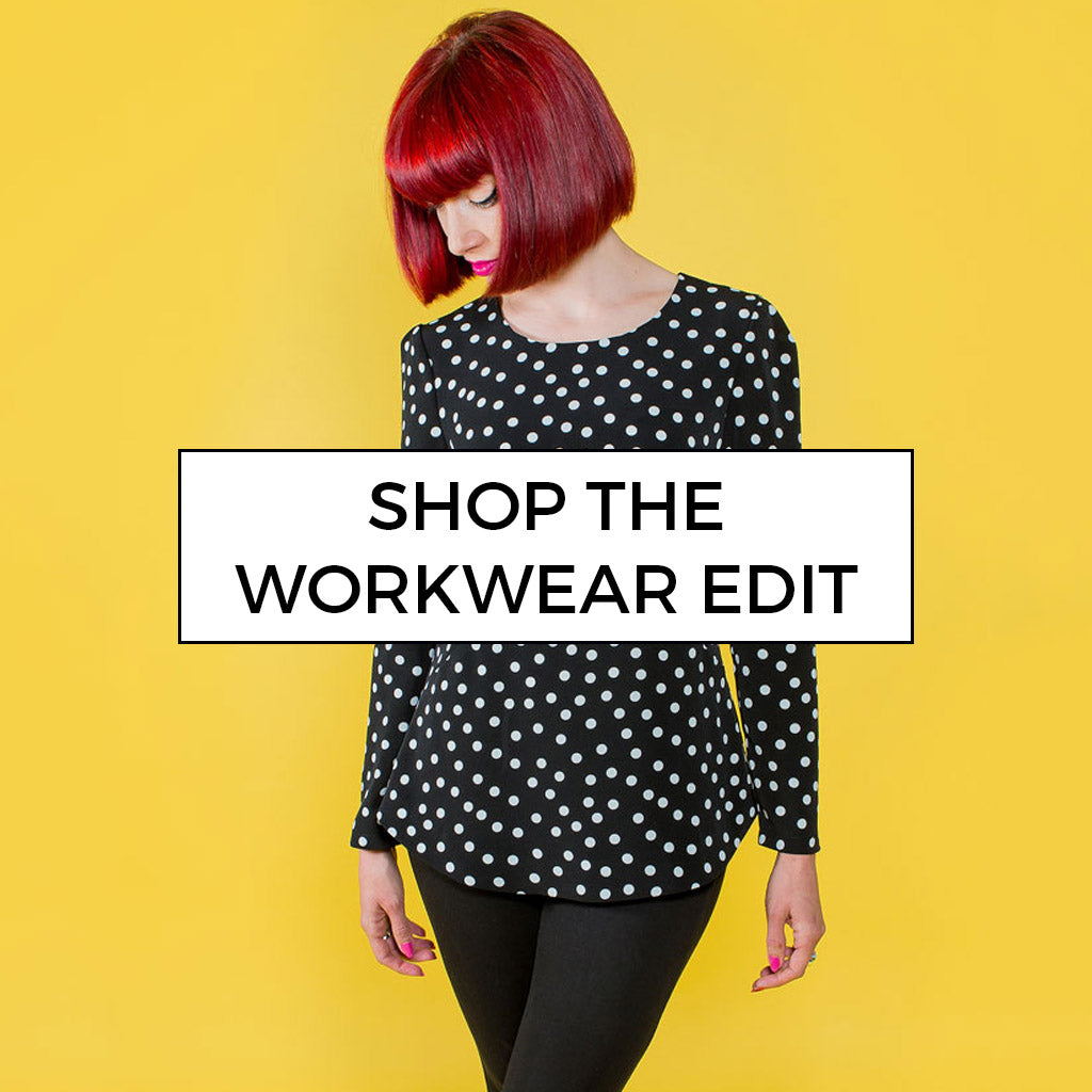 Shop the sewing pattern workwear edit and whip up your very own office-ready wardrobe!