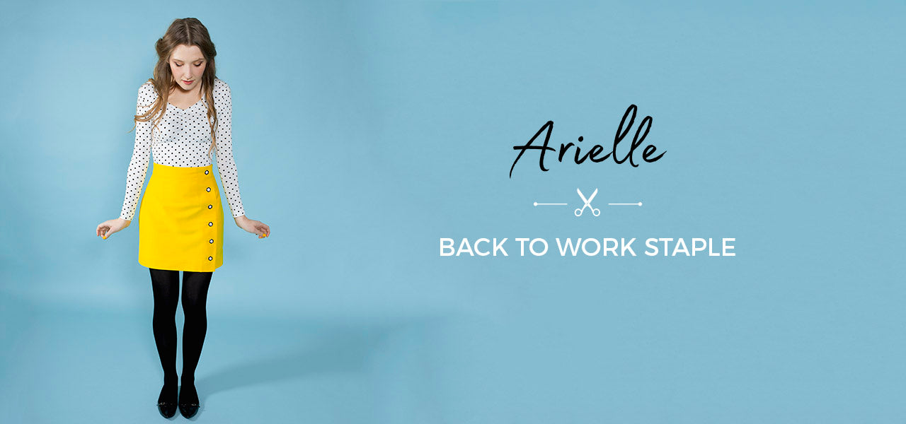 Sew a back to work staple - the Arielle skirt by Tilly and the Buttons