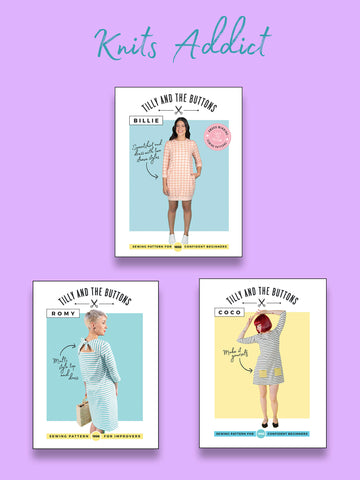 Knits Addict sewing patterns bundle by Tilly and the Buttons
