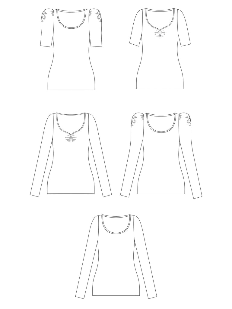 AGNES JERSEY TOP sewing pattern | Tilly and the Buttons