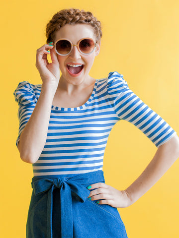 Agnes top pattern by Tilly and the Buttons – learn to sew jersey on a regular sewing machine!