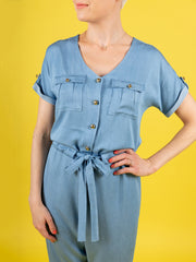 Alexa jumpsuit or playsuit sewing pattern by Tilly and the Buttons
