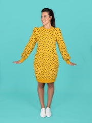 Billie sweatshirt and dress by Tilly and the Buttons
