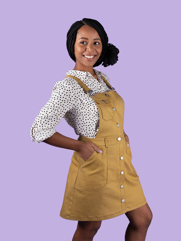 Bobbi skirt or pinafore sewing pattern by Tilly and the Buttons