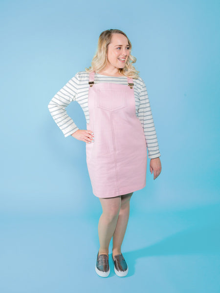 Cleo dungaree dress sewing pattern bundle by Tilly and the Buttons