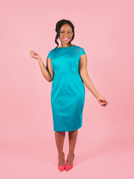 Turn heads in your handmade dress! Etta sewing pattern by Tilly and the Buttons