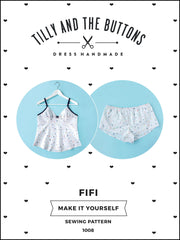 Make your own delicate camisole and shorts set with the Fifi sewing pattern