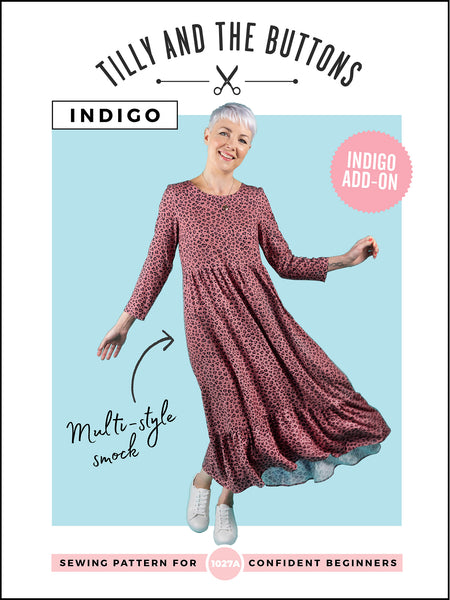 Indigo add-on digital sewing pattern by Tilly and the Buttons