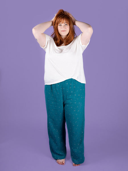 Jaimie pyjama bottoms and shorts sewing pattern from Tilly and the Buttons