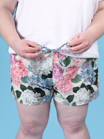 Jaimie pyjama bottoms and shorts UK 16-34 sewing pattern from Tilly and the Buttons