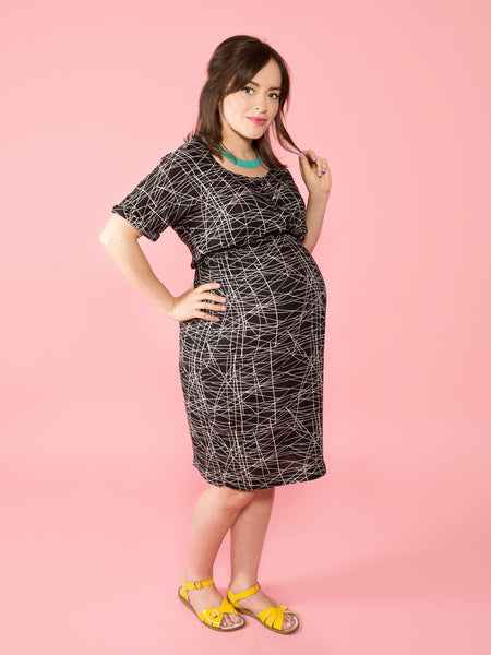 MATERNITY + NURSING BETTINE DRESS – DIGITAL – Tilly and the Buttons
