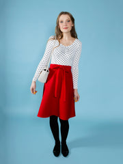 Sew a beginner-friendly Miette wrap skirt by Tilly and the Buttons
