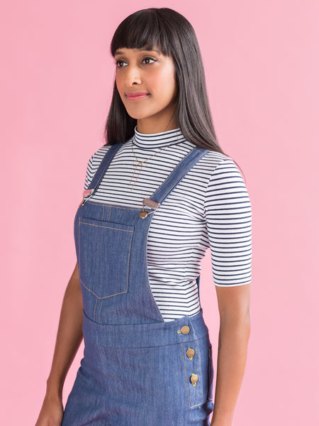 Sew your own cute dungarees with the Mila sewing pattern from Tilly and the Buttons