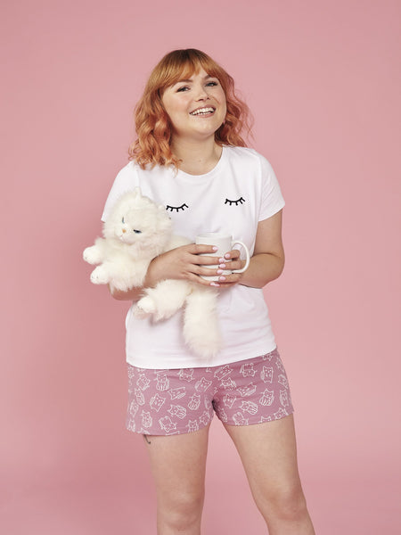 Juno shortie pyjamas - sewing pattern from Make It Simple by Tilly Walnes