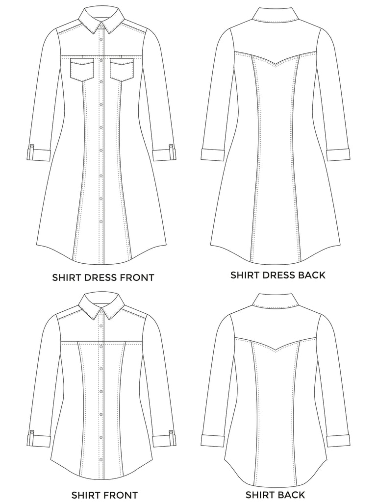 ROSA SHIRT AND SHIRT DRESS sewing pattern | Tilly and the Buttons