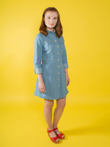 Rosa shirt and shirtdress sewing patten by Tilly and the Buttons