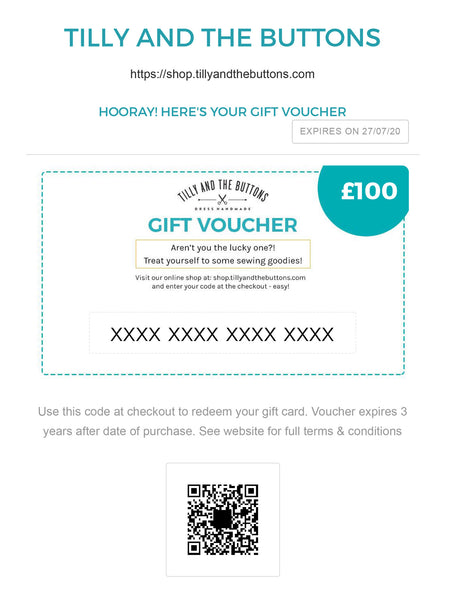 Tilly and the Buttons gift voucher