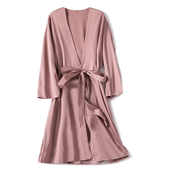 Satin Robe and Nightgown Set