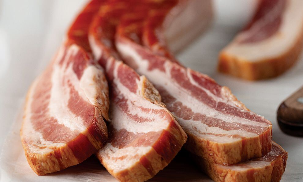 1 Inch Sliced Bacon (15lb/cs) - Hobb's