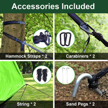 Load image into Gallery viewer, Camping Hammock, 2 Persons Outdoor Indoor Lightweight & Portable Hammock Tent with Straps & Steel Carabiners Nylon for Hiking, Backpacking, Travel, Beach, Yard - Tido Home