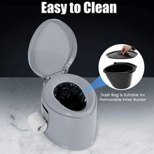 Load image into Gallery viewer, Camping Toilet with Detachable Inner Bucket and Removable Toilet Paper Holder Lightweight Outdoor Indoor Toilet for Camping, Hiking, RV, Boating and Trip - Tido Home