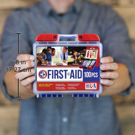 First Aid Kit, Clean, Treat & Protect Most Injuries With The Kit that is great for Any Home, Office, Vehicle, Camping & Sports (100Piece). - Tido Home