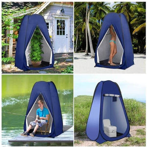 Pop Up Pod Changing Room Privacy Tent – Instant Portable Outdoor Shower Tent, Camp Toilet, Rain Shelter for Camping Beach - Tido Home