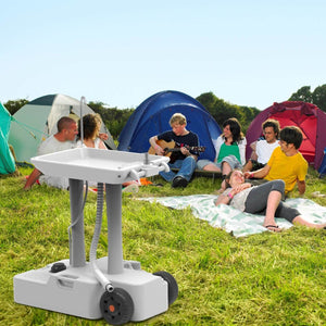 Portable Camping Sink, Portable Hand Washing Station With Wheels- New Model - Tido Home