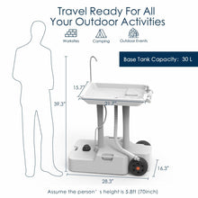 Load image into Gallery viewer, Portable Camping Sink, Portable Hand Washing Station With Wheels- New Model - Tido Home