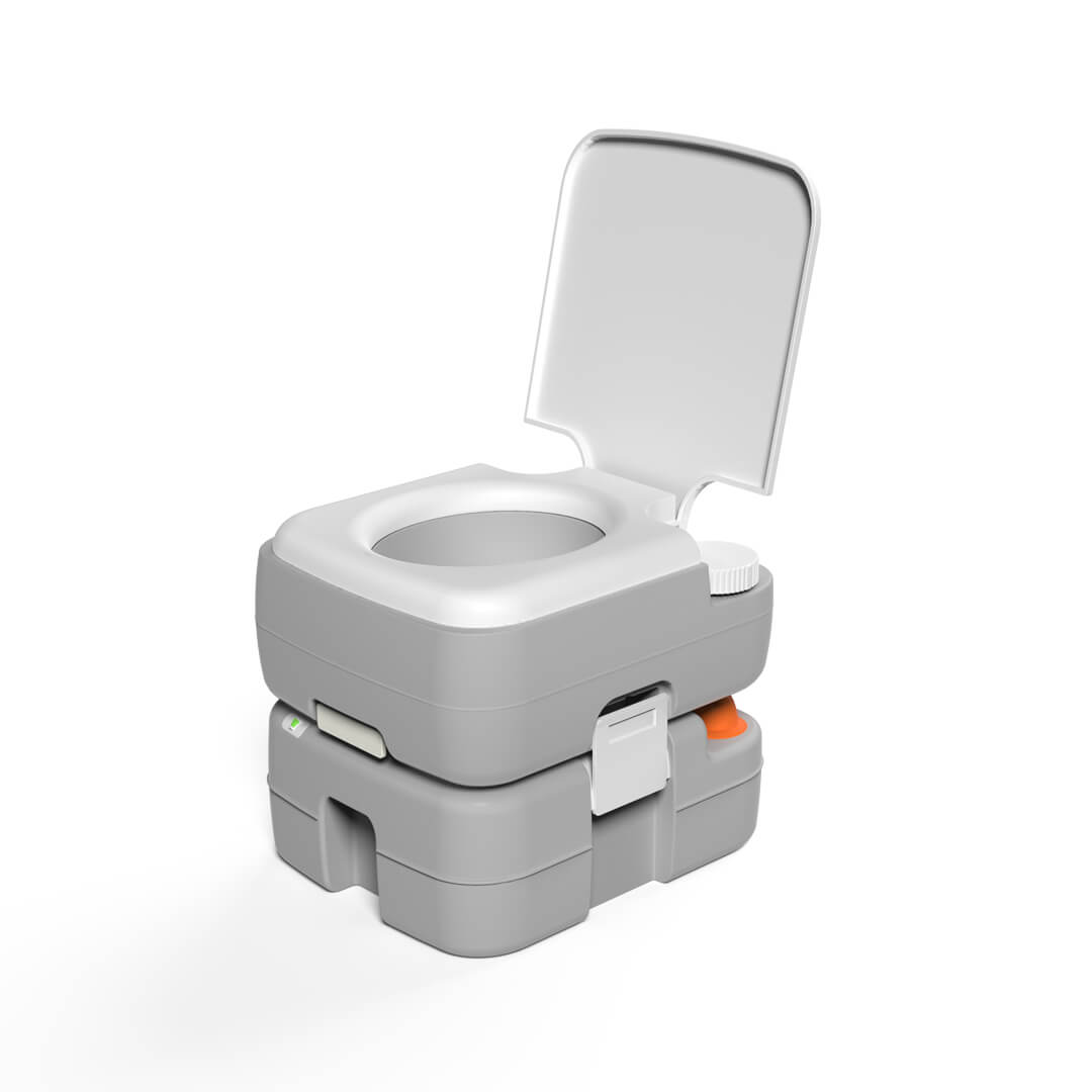 Portable Camping Toilet Outdoor Travel Toilet with Level Indicator