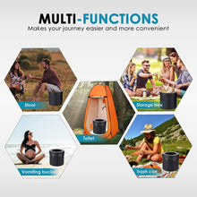 Load image into Gallery viewer, Portable Camping Toilet, Travel Potty Car Toilet, Portable Folding Toilet for Camping - Tido Home