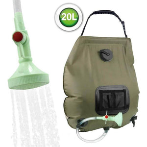 Solar Shower Bag, 5 Gallons/20L Solar Heating Camping Shower Bag with Removable Hose and On-Off Switchable Shower Head - Tido Home