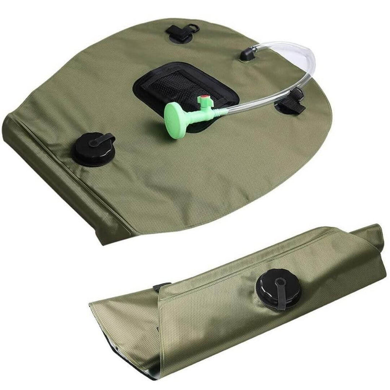 Solar Shower Bag, 5 Gallons/20L Solar Heating Camping Shower Bag with Removable Hose and On-Off Switchable Shower Head