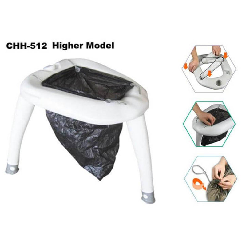 Tido Home Portable Toilet for Outdoor Camping| with 10pcs Disposable Bags