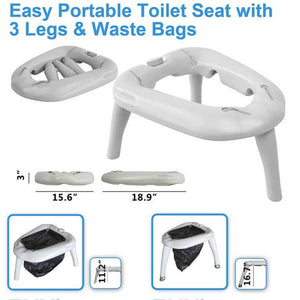 Tido Home Portable Toilet for Outdoor Camping| with 10pcs Disposable Bags - Tido Home
