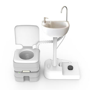 Tido Home Upgraded Portable Camping Sink And Toilet Combo Set - Tido Home
