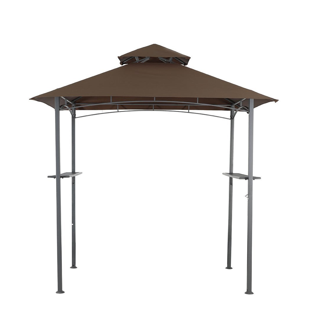 TidoHome Grill Gazebo, Grill Gazebo Canopy for Patio Outdoor BBQ Gazebo with Shelves Barbeque - Tido Home