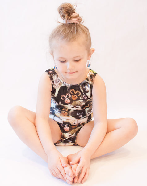 Many Monkeys Gymnastics Leotard (Size 4/5 & 7)