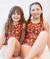 Strawberries Gymnastics Leotard (Size 12)