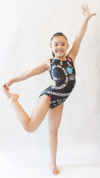 Girl Power Gymnastics Leotard (Size 10)