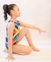 Swirling Lights Gymnastics Leotard (Size 10)