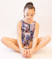 Random Rectangles Gymnastics Leotard (Size 8)