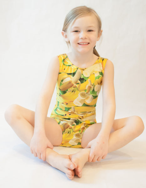 Totally Bananas Gymnastics Leotard (Size 7 & 10)
